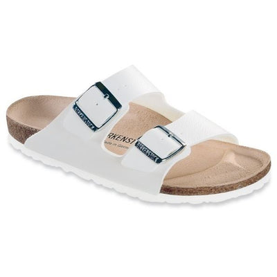 Birkenstock Classic, Arizona, Narrow Fit, Leather, White Sandals Birkenstock Classic White 43