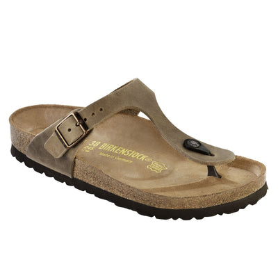 Birkenstock Classic, Gizeh, Natural Leather, Narrow Fit, Tabacco Brown Sandals Birkenstock Classic Tabacco Brown 35