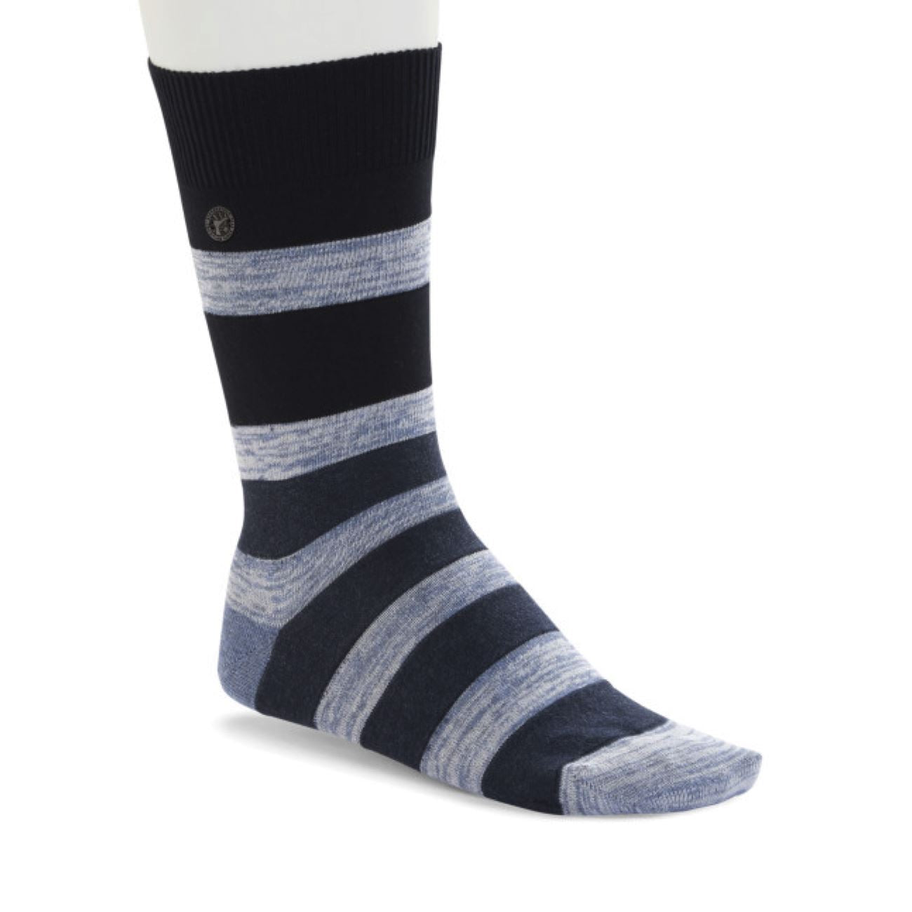Birkenstock Socks, Fashion Stripe MEN, Jeans Melange Socks Birkenstock Socks Jeans melange 39