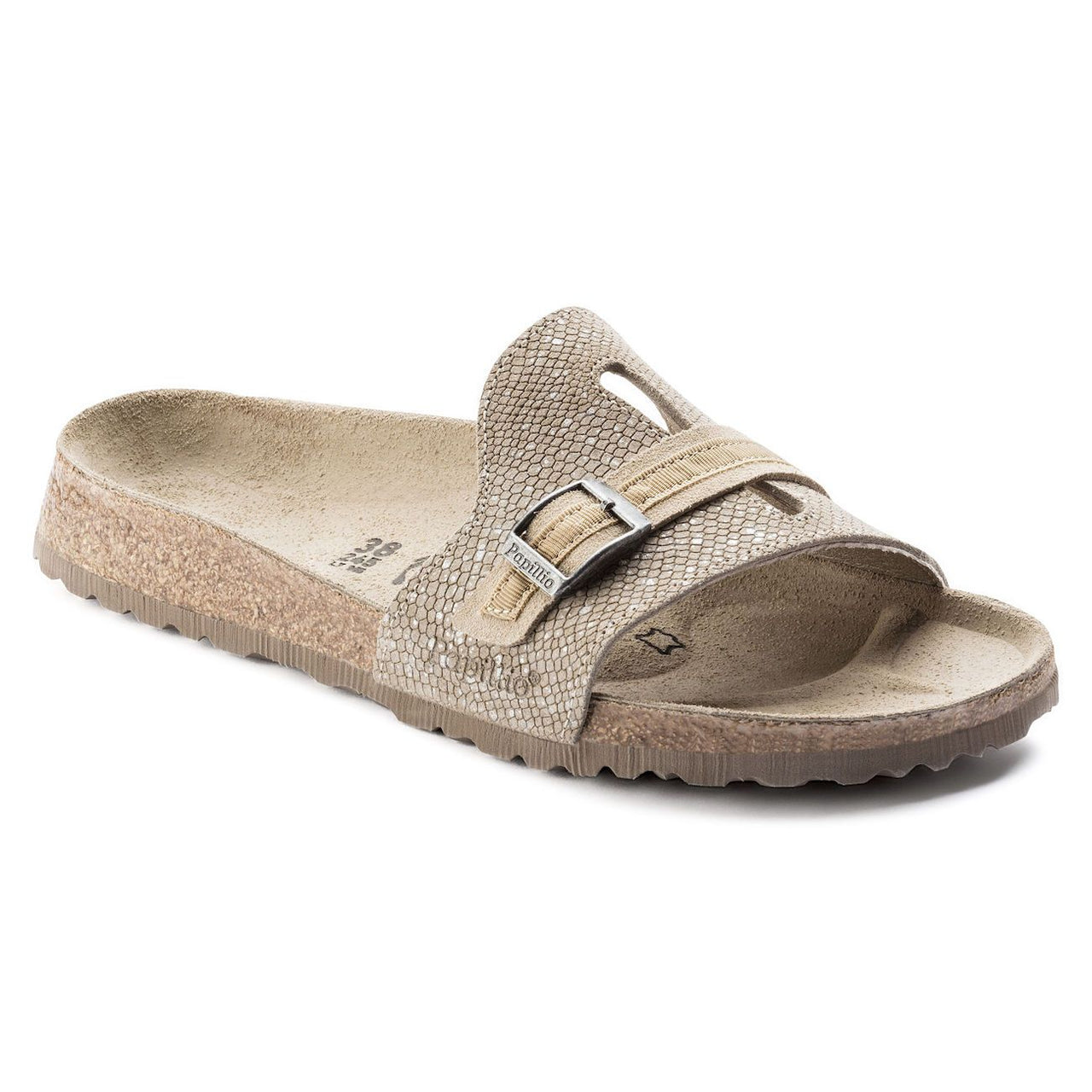 Papillio, Carmen, Embossed Leather, Narrow Fit, Silver Splashes Mud at Birkenstock Hahndorf