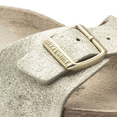 Birkenstock Classic, Madrid, Leather, Narrow Fit, Washed Metallic Cream Gold