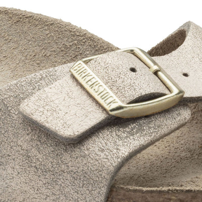 Birkenstock Classic, Madrid, Leather, Narrow Fit, Washed Metallic Rose Gold