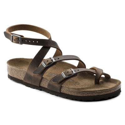 Birkenstock Classic, Seres, Oiled Leather, Regular Fit, Camberra Old Tabacco Sandals Birkenstock Classic Camberra Old Tabacco 37
