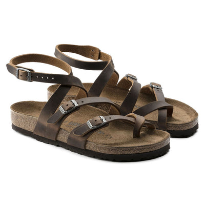 Birkenstock Classic, Seres, Oiled Leather, Regular Fit, Camberra Old Tabacco - Birkenstock Hahndorf