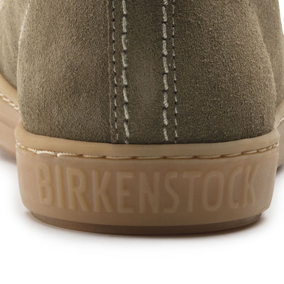 Birkenstock Shoes, Arran Women, Suede Leather, Regular Fit, Khaki - Birkenstock Hahndorf