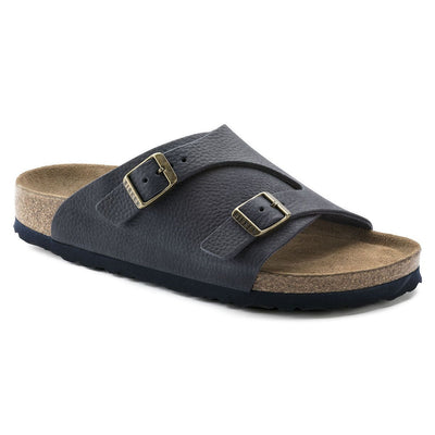 Birkenstock Classic, Zurich, Soft Foot-bed, Regular Fit, Nubuck Leather, Steer Indigo - Birkenstock Hahndorf