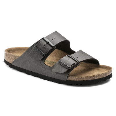 Birkenstock Classic, Arizona, Pull up, Microfibre, Vegan, Regular Fit, Anthracite Sandals Birkenstock Vegan Anthracite 38