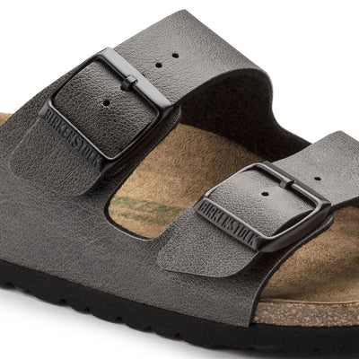 Birkenstock Classic, Arizona, Pull up, Microfibre, Vegan, Regular Fit, Anthracite Sandals Birkenstock Vegan