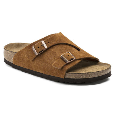 Birkenstock Classic, Zurich, Soft-Footbed, Narrow Fit, Suede, Mink Sandals Birkenstock Classic Mink 37