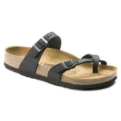 Birkenstock Classic, Mayari, Oiled leather, Regular Fit, Black Sandals Birkenstock Classic Black 37