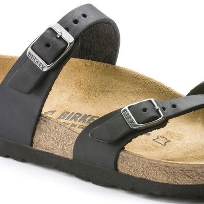 Birkenstock Classic, Mayari, Oiled leather, Regular Fit, Black Sandals Birkenstock Classic