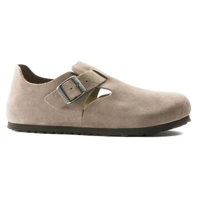 Birkenstock Shoes, London, Suede Leather, Narrow Fit, Taupe Shoes Birkenstock Shoes