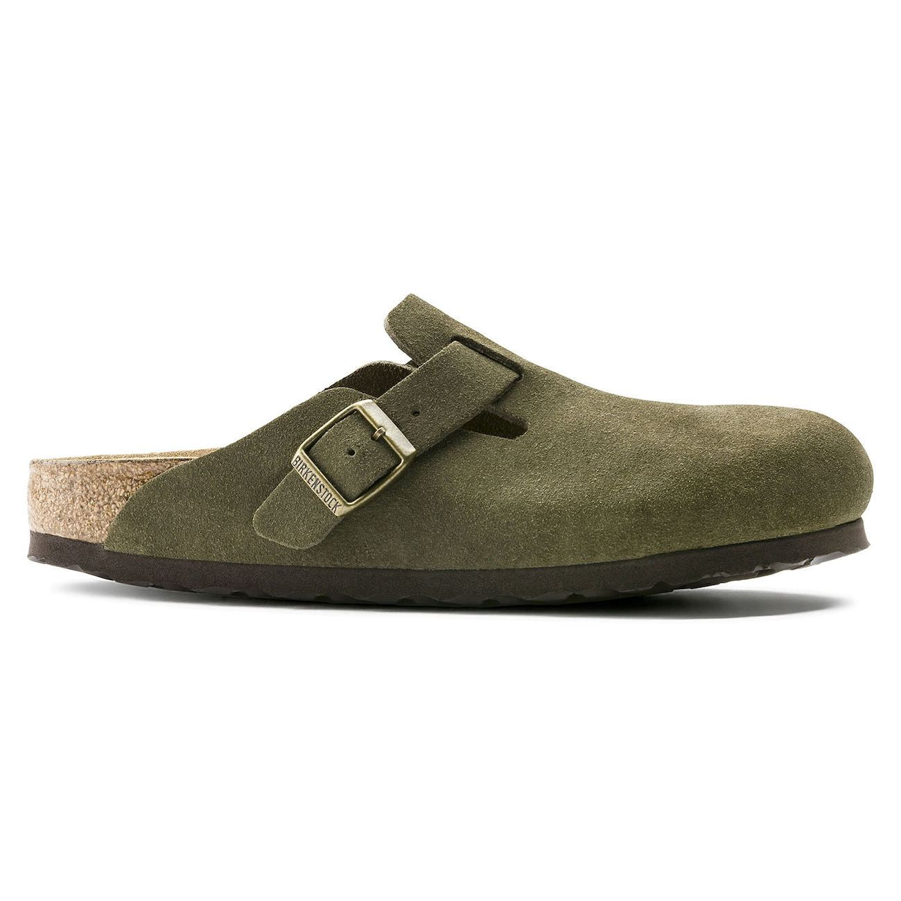 Birkenstock Boston, Narrow Fit, Soft Footbed, Suede Leather, Forest Clogs Birkenstock Classic Forest 42