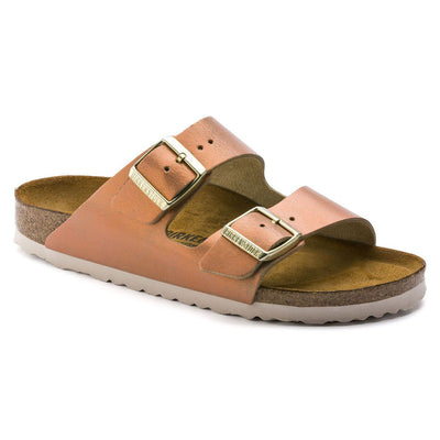 Birkenstock Seasonal, Arizona, Washed Metallic, Suede Leather, Regular Fit, Sea Copper Sandals Birkenstock Seasonal Sea Copper 36