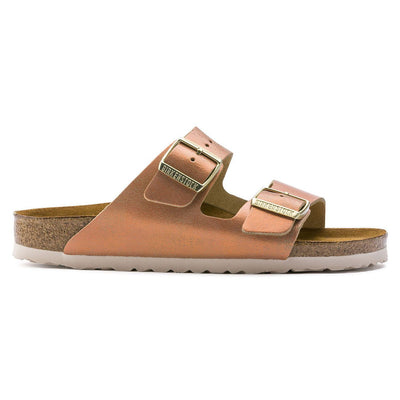 Birkenstock Seasonal, Arizona, Washed Metallic, Suede Leather, Regular Fit, Sea Copper Sandals Birkenstock Seasonal