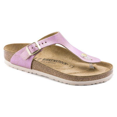Birkenstock Seasonal, Gizeh, Washed Metallic, Suede Leather, Regular Fit, Pink Sandals Birkenstock Seasonal Pink 36