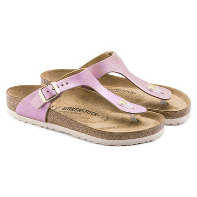 Birkenstock Seasonal, Gizeh, Washed Metallic, Suede Leather, Regular Fit, Pink Sandals Birkenstock Seasonal