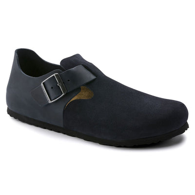 Birkenstock Shoes, London, Oiled Leather/Suede, Narrow Fit, Night Blue Shoes Birkenstock Shoes Night Blue 37