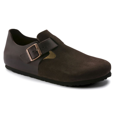 Birkenstock Shoes, London, Oiled Leather/Suede, Regular Fit, Ebony Shoes Birkenstock Shoes Ebony 36