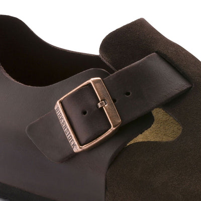 Birkenstock Shoes, London, Oiled Leather/Suede, Regular Fit, Ebony Shoes Birkenstock Shoes