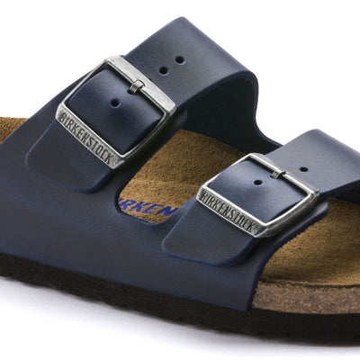 Birkenstock Seasonal, Arizona, Oiled Leather, Soft Footbed, Regular Fit, Blue Sandals Birkenstock Seasonal