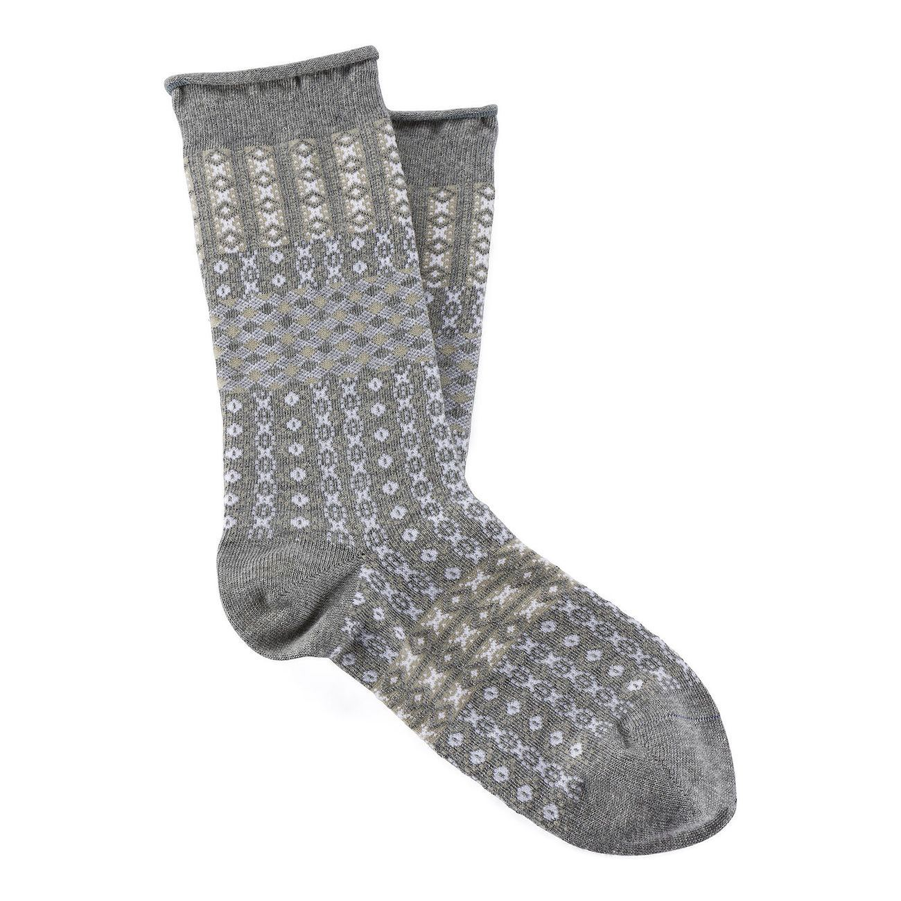 Birkenstock Socks, Cotton Ethno Summer W, Grey mel, 36-38 EU Socks Birkenstock Socks Grey mel 36-38 EU