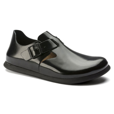 Birkenstock Shoes, London, Smooth Leather, Regular Fit, Shiny Black Shoes Birkenstock Shoes Shiny Black 37