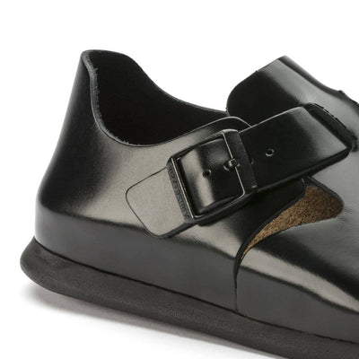 Birkenstock Shoes, London, Smooth Leather, Regular Fit, Shiny Black Shoes Birkenstock Shoes
