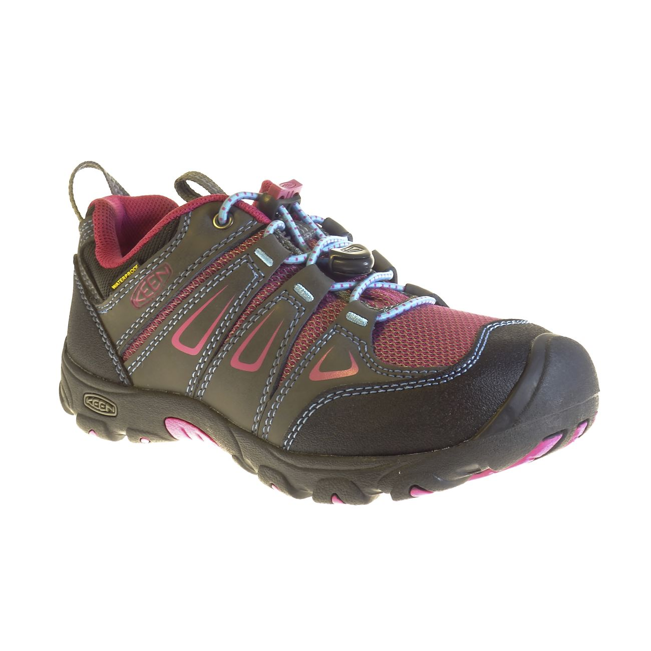 KEEN, Oakridge Low WP, Youth, Magnet/Very Berry Shoes Keen Magnet/Very Berry 1