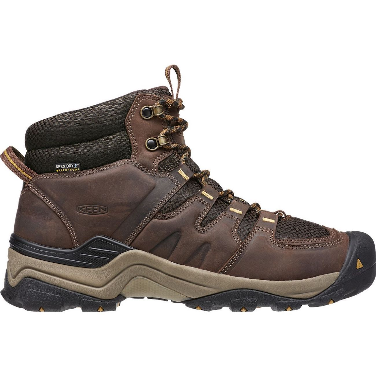 KEEN, Gypsum II Mid WP Mens, Coffee Bean Bronze Mist Hiking Boots Keen Coffee Bean Bronze Mist 10
