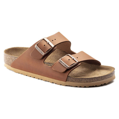 Birkenstock Seasonal, Arizona, Antique Aging, Natural Leather, Regular Fit, Antique Pull Cognac Sandals Birkenstock Seasonal Antique Pull Cognac 40