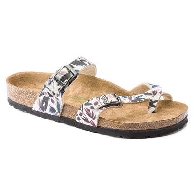 Birkenstock Vegan, Mayari, Floral Fades, Birko-Flor, Regular Fit, Off-White Sandals Birkenstock Vegan Off-White 35