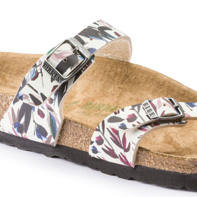Birkenstock Vegan, Mayari, Floral Fades, Birko-Flor, Regular Fit, Off-White Sandals Birkenstock Vegan
