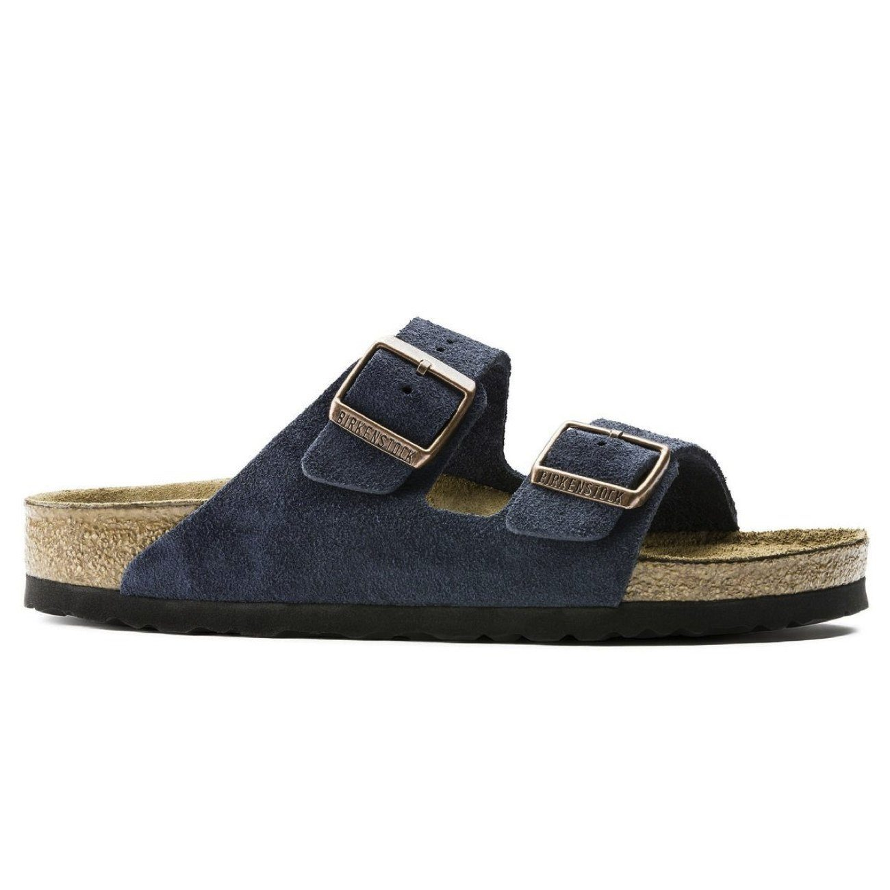 Birkenstock Classic, Arizona, Suede Leather, Soft-Footbed, Regular Fit, Navy Sandals Birkenstock Classic Navy 36