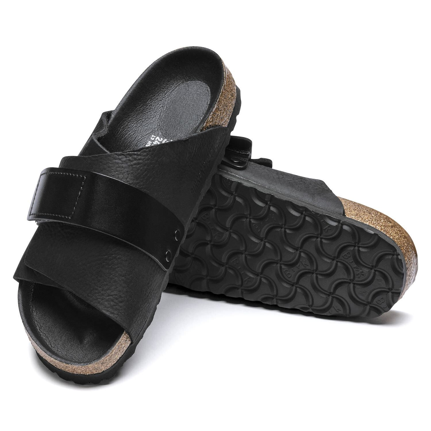 Birkenstock Seasonal, Kyoto, Nubuck Leather/Birko-Flor, Regular Fit, Black Sandals Birkenstock Seasonal Black 36