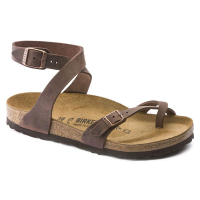 Birkenstock Classic, Yara, Regular Fit, Oiled Leather, Habana Sandals Birkenstock Classic Habana 36