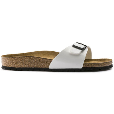 Birkenstock, Madrid, Regular Fit, Birko-Flor, White Patent