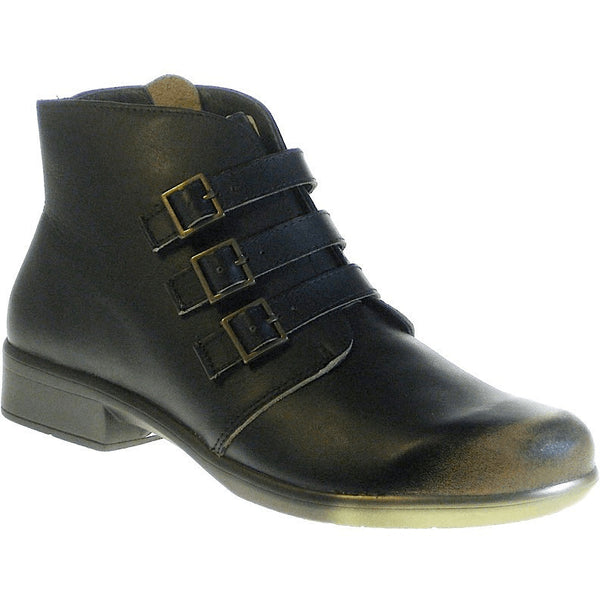 NAOT, Calima, Leather Ankle Boot, Removable Footbed, Volcanic Brown