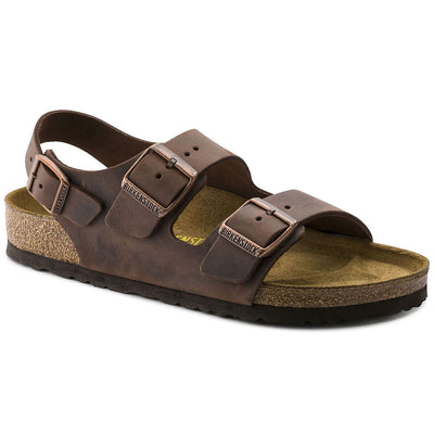 Birkenstock Classic, Milano, Natural Leather, Regular Fit, Habana Sandals Birkenstock Classic Habana 46