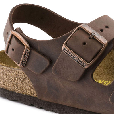 Birkenstock Classic, Milano, Natural Leather, Regular Fit, Habana Sandals Birkenstock Classic