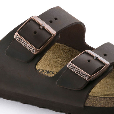 Birkenstock Classic, Arizona, Natural Leather, Regular Fit, Habana