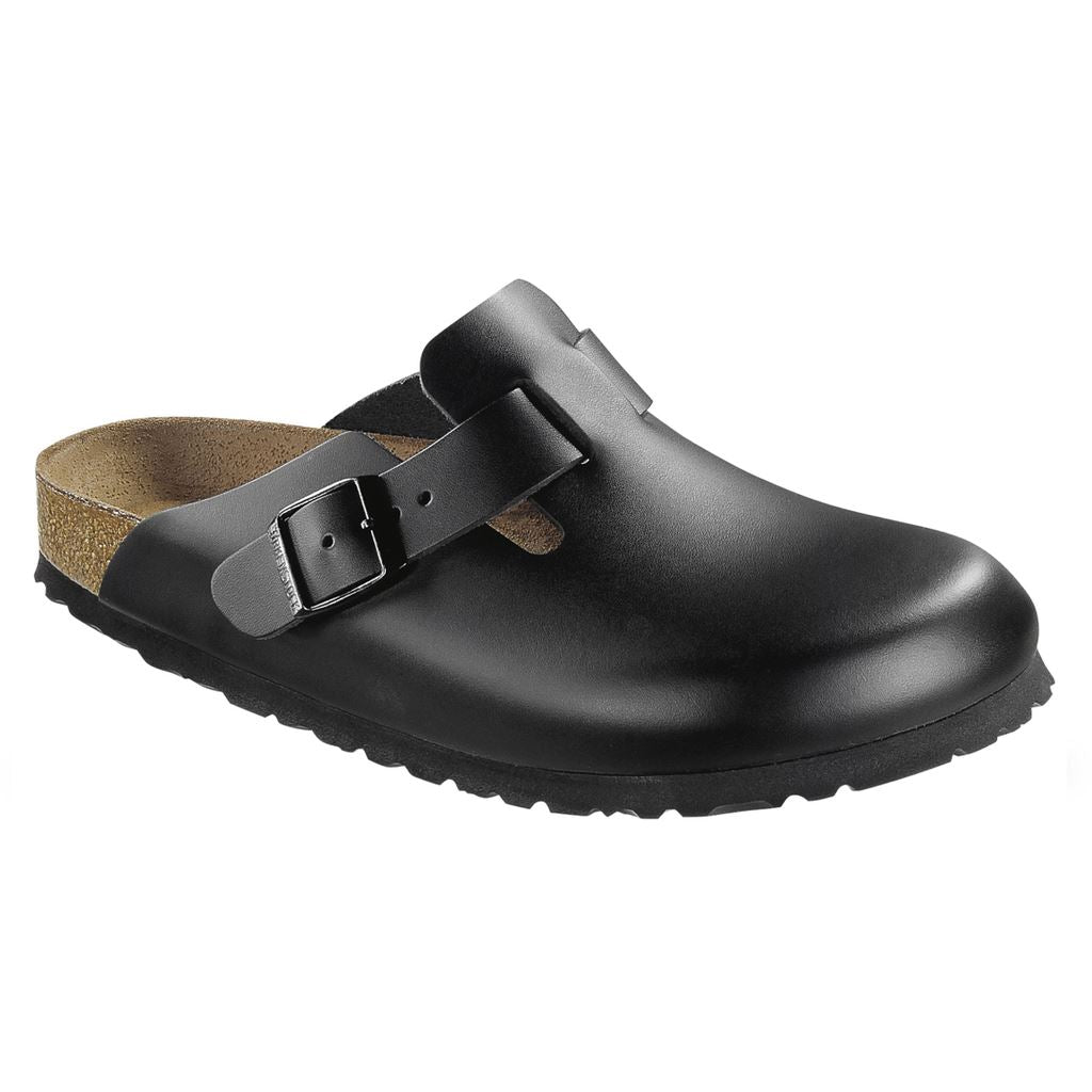 Birkenstock Classic, Boston, Regular Fit, Smooth Leather, Black Clogs Birkenstock Classic Black 41