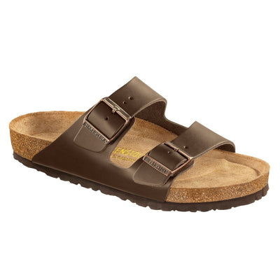 Birkenstock Classic, Arizona, Regular Fit, Smooth Leather, Soft Footbed, Dark Brown Sandals Birkenstock Classic Brown 41