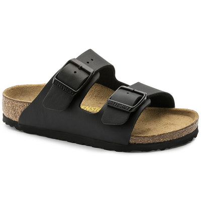Birkenstocks Kids, Arizona, Birko-Flor, Narrow Fit, Black Sandals Birkenstock Kids Black 27
