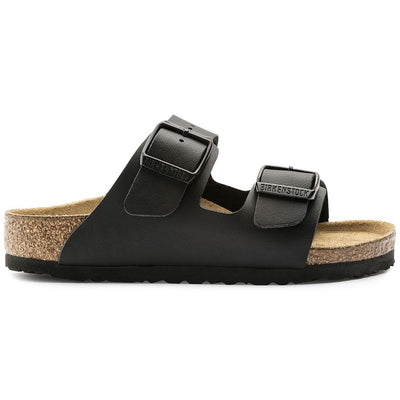 Birkenstocks Kids, Arizona, Birko-Flor, Narrow Fit, Black Sandals Birkenstock Kids