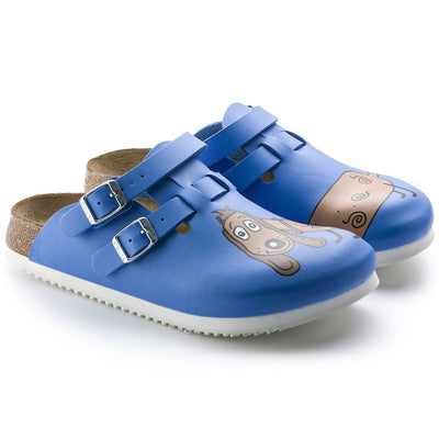 Birkenstock Professional, Kay SL, Birko-Flor, Super Grip Sole, Narrow Fit Clogs Birkenstock Professional Blue Dog 38