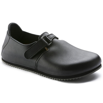 Birkenstock Professional, Linz SL, Super Grip Sole Leather Regular Fit, Black at Birkenstock Hahndorf