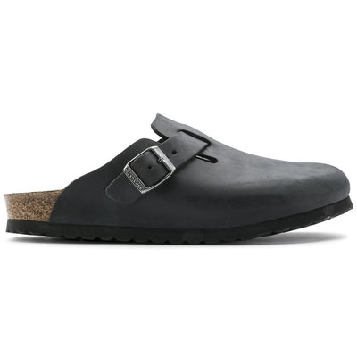 Birkenstock Classic, Boston, Regular Fit, Oiled Leather, Black