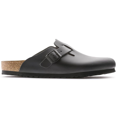 Birkenstock Classic, Boston, Narrow Fit, Smooth Leather, Black Clogs Birkenstock Classic