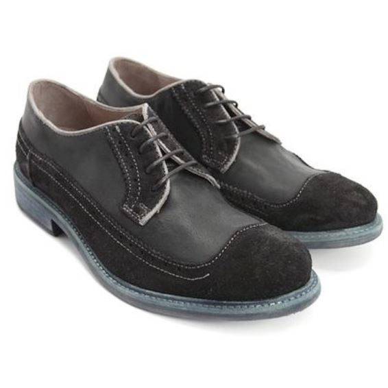 John Fluevog, Features, Dean Mens, Smooth and Suede Leather, Black Shoes John Fluevog Black 8